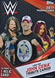 #9: 2017 Topps WWE Wrestling Series Unopened Box of Packs with One GUARANTEED Relic Card Per Box plus 70 additional cards
