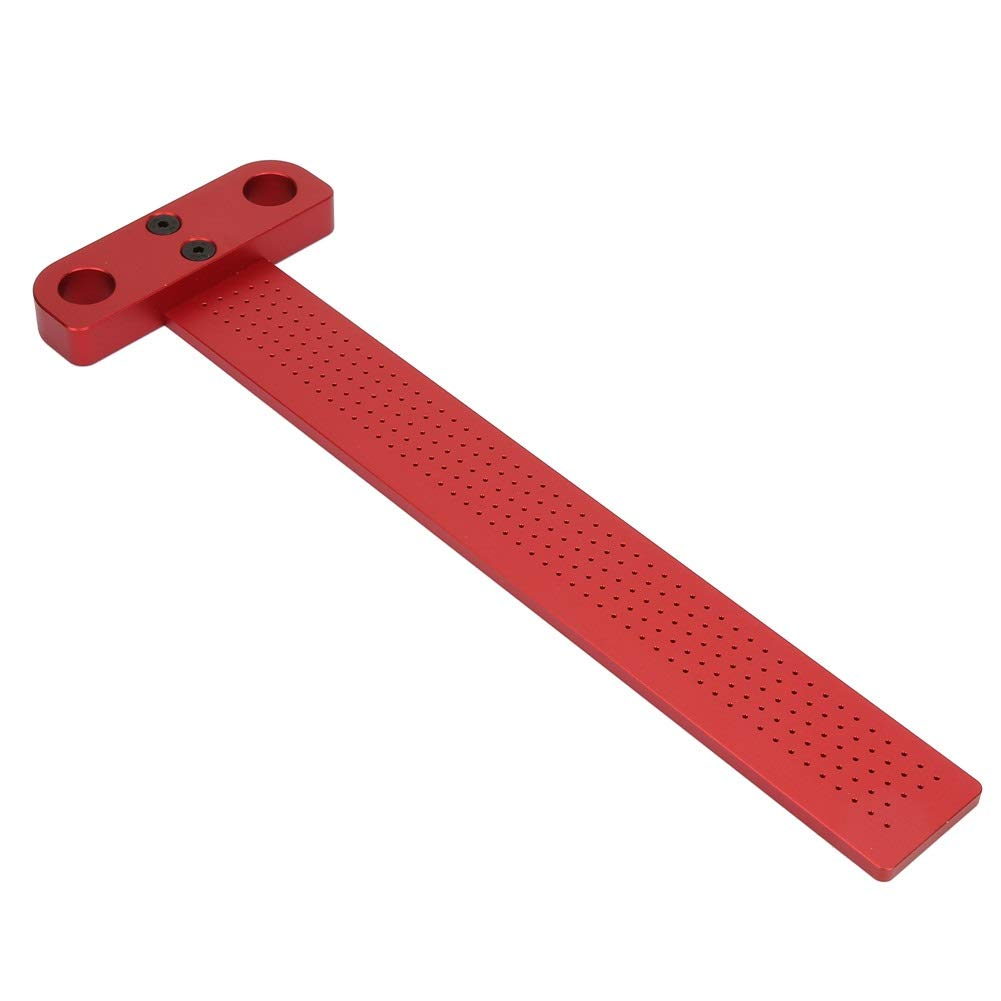 Size : T-160 Woodworking Aluminum Alloy Scriber Measuring Carpentry Marking Tool Jadeshay T Type Square Ruler