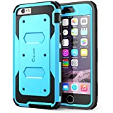 iPhone 6S Case, [Heavy Duty] i-Blason Apple iPhone 6 Case 4.7 Inch Armorbox [Dual Layer] Hybrid Full-body Protective Case with Front Cover and Built-in Screen Protector / Impact Resistant Bumpers (Blue)