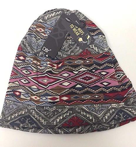 Lot 2 Women Soft Knit Beanie Cap Hats Winter Neck Warmer Head wrap Multi Color #KSAA