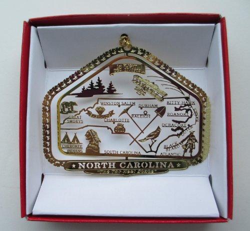 North Carolina State Christmas Ornament Raleigh Charlotte Roanoke
