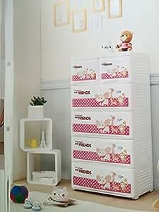 C moda blanca infantil de polipropileno pl stico - Cajoneras para juguetes ...
