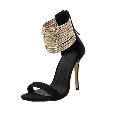 ef935800aa27 DENER Women Ladies Summer High Heels Sandals