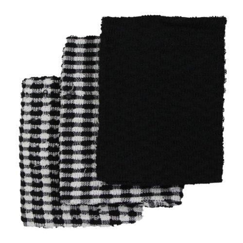 ancho 45 x largo 65 cm Negro//Blanco Pa/ños de cocina de algod/ón