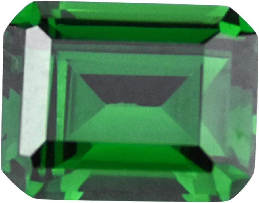 pnxq88 - Colgante de Piedras Preciosas Artificiales y Pendientes de joyería Sueltos, Esmeralda Deslumbrante, artesanía, Verde minado