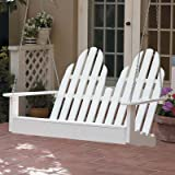 Prairie Leisure Adirondack Porch Swing, WHITE Review