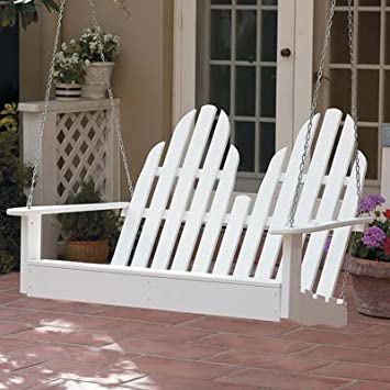prairie leisure porch swing white with frame cushion lowes