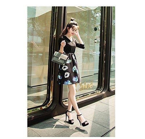 Xiaoqi De Zapatos Hebilla Nuevas Mujer Alto Con Coreano Negro Fina Tacón Sandalias Verano 61ZCPxcwwq
