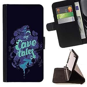 BullDog Case - FOR/Samsung ALPHA G850 / - / CHILDREN'S BOOK COVER READ TALES NIGHT /- Monedero de cuero de la PU Llevar cubierta de la caja con el ID Credit Card Slots Flip funda de cuer