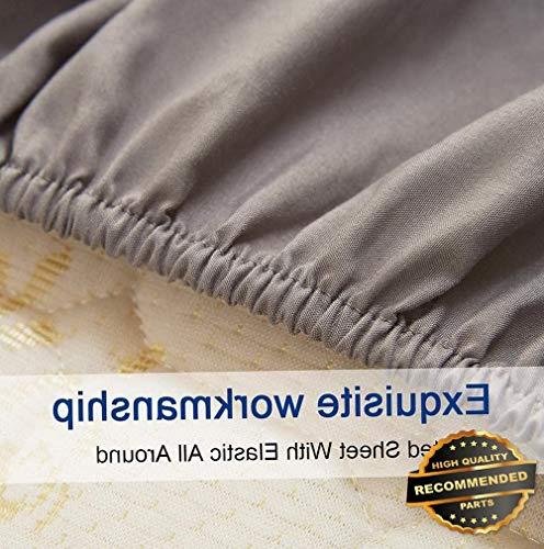 Sandover 6 Piece Bedroom Bed Sheet Set 2100 Thread Count Luxury Comfort Deep Pocket| Size Cal King | Style DUV-5301218201 -
