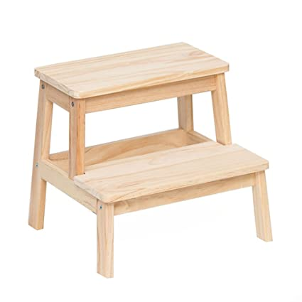 Pleasant 2 Step Two Steps Stool Solid Wood Children Stool Wooden Beatyapartments Chair Design Images Beatyapartmentscom