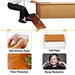 """LimBridge Chair Leg Wood Floor Protectors, Chair Feet Glides Furniture Carpet Saver, Silicone Caps with Felt Pads #10, Fit Round Leg Diameter 1-7/8"""" to 2-1/16"""" or 47-52mm 16 Pack"""