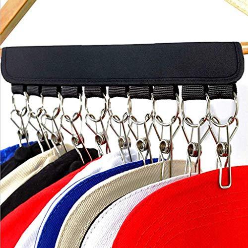 KNDDYY Cap Organizer Hanger, 10 Baseball Cap Holder, Hat Organizer for Closet (A)