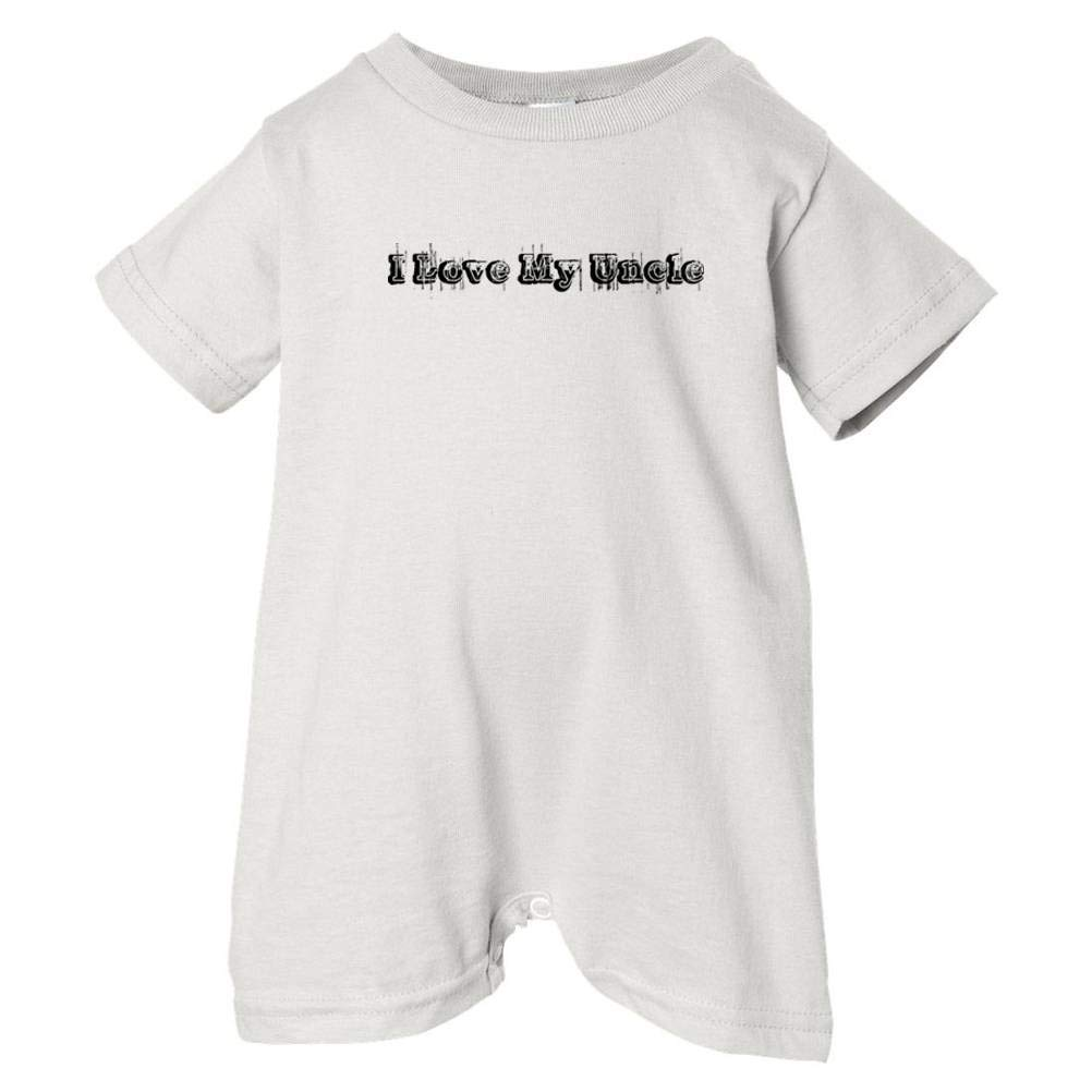 Unisex Baby I Love My Uncle So Relative T-Shirt Romper Black Vintage Distressed White, 24 Months