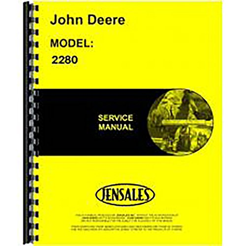 New Service Manual Made To Fit John Deere 2280 Windrower (Hydrostatic Drive)