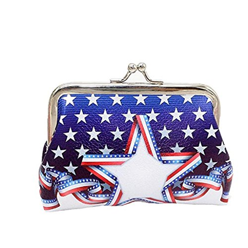 Fashion Wallet Coin Girls Women Wallet Bag Purse Noopvan C Cute 2018 Clearance unique nice wallets wallets Hasp Flag Printed Clutch B4wAYf