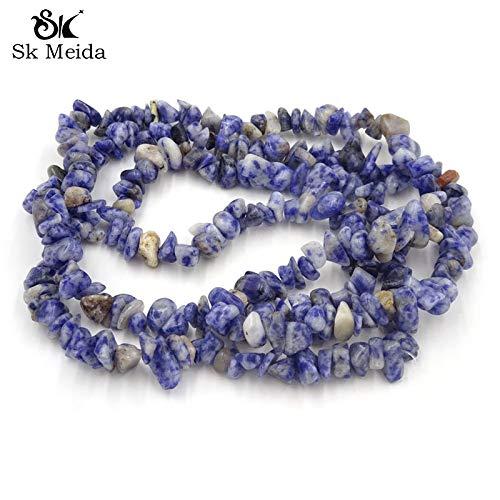 Calvas 5-10mm Imitation Sodalita Stone Jewelry Components Beads Semi Precious Stones Dogal Tas Material Bisuteria Wholesale 33inch