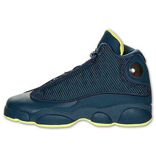 Nike Air Jordan 13 Retro Bg, Zapatillas de Deporte para Niños squadron blue, elctrc yllw-blk