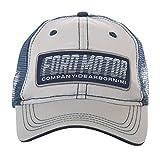Ford Motor Company Trucker Style Mesh Cap Hat (Grey)
