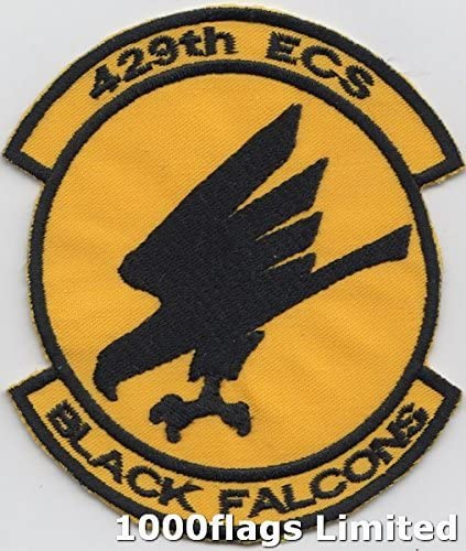 429th TAC FTR SQ Black Falcons Patch USAF US Air Force Tactical Fighter Squadron