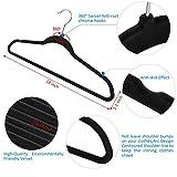 Velvet Hangers IEOKE Nonslip Clothes Hangers Heavy Duty 360 Swivel Hanger Hook Ultra Thin Clothes Racks Perfect for Space Saving (50 PACK)