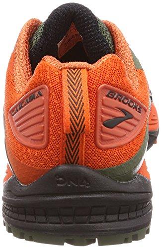 Brooks Mens Cascadia 12 Verde / Arancio / Nero