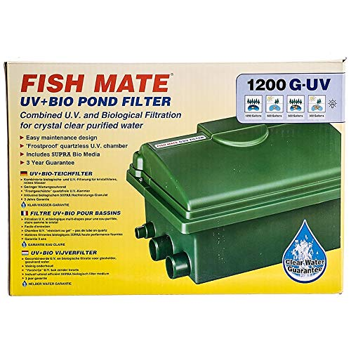 Fish Mate 1200GUV Gravity UV+Bio Pond Filter ()
