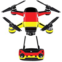 Skin for DJI Spark Mini Drone Combo - German Flag| MightySkins Protective, Durable, and Unique Vinyl Decal wrap cover | Easy To Apply, Remove, and Change Styles | Made in the USA