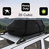 20 Cubic Car Cargo Roof Bag - Waterproof Duty Car Roof Top Carrier - Easy to Install Soft Rooftop Luggage Carriers with Wide Straps 20 Cubic Feet (Thickened - 20 Cubic)