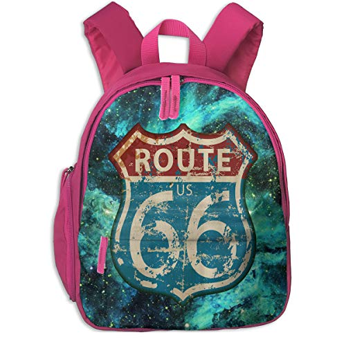 America Highway Travel Lifestyle Route 66 Children's/Kids School/Nursery/Picnic/Carry/Travelling Bag Backpack Daypack Bookbags - 66 Highway Motorcycle Americas Route