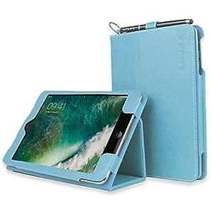Snugg Leather Card Slot Case for Apple iPad Mini /  Mini 2 - Baby Blue