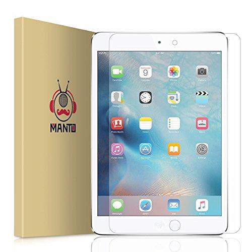 iPad Mini 4 Screen Protector, Manto Premium Tempered Glass Screen Protector film 9H Hardness Retina Display for Apple iPad Mini 4-7.9 inches (1-Pack)
