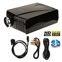 3000lumens WXGA 1280x800 HD Home Theater LED Projector VGA/AV 1080P 2D/3D 2000:1