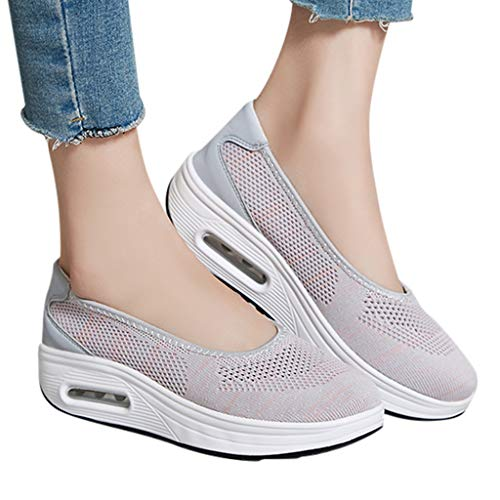 NEARTIMEWomen's Lazy Shoes-Summer/Autumn Casual Mesh Breathable Slip On Sneakers Wedges Thick Bottom Shoes]()