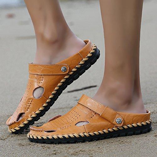 Mode - Männer Strandschuhe Trend Baotou Männer Sandalen,Gelb,Eu41