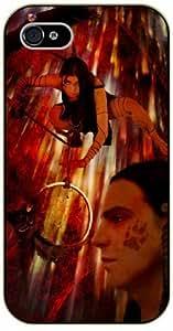 Dreamcatcher, girl on mind - iPhone 4 / 4s black plastic case / Inspiration