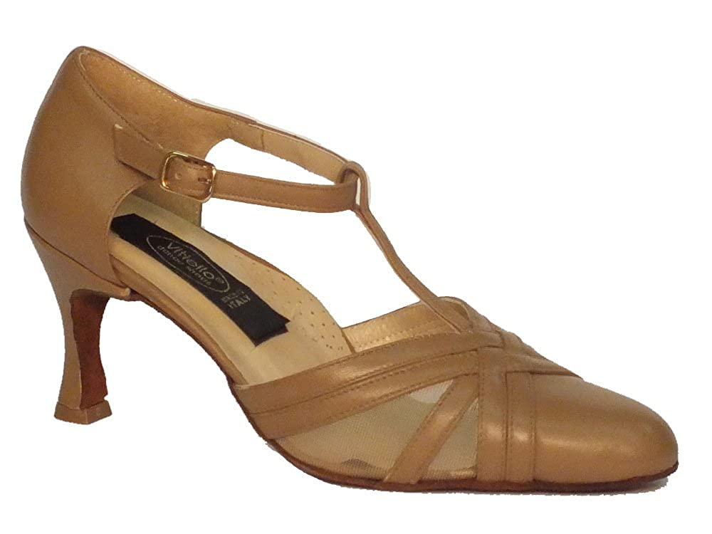 Vitiello Dance Shoes  Standard beige, Chaussons de danse pour femme Beige Beige SBSTD3860BG70N