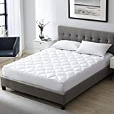 EXQ Home Twin XL Mattress Pad Extra Long Twin Pillow Top Mattress Cover with Down Alternative Fill, Hypoallergenic Organic Cotton Overfilled Matress Toppers for Twin XL Bed (Deep Pocket up to 21')