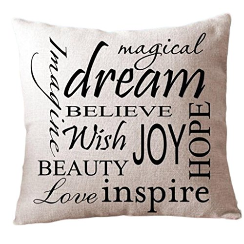 SMTSMT Pillow Cover Cushion Case Toss Pillowcase Hidden Zipper Closure (18