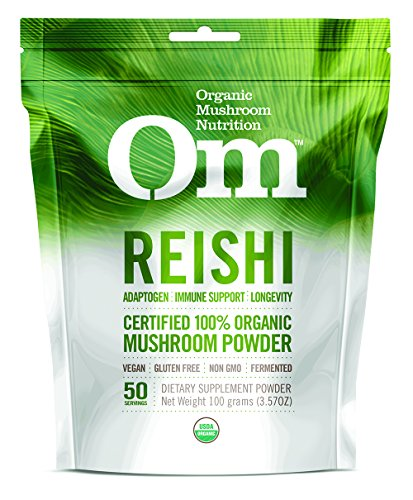 Om Organic Mushroom Supplement, Reishi, 100 grams (Supplement Reishi Mushroom)