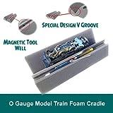 #7: O Gauge Model Train Foam Locomotive & Car Cradle