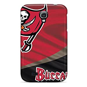 Shock-Absorbing Hard Cell-phone Case For Samsung Galaxy S4 With Custom Lifelike Tampa Bay Buccaneers Pattern CharlesPoirier