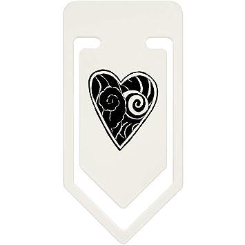Azeeda 91mm Corazón del Tatuaje Clip de Papel Plástico Grande ...
