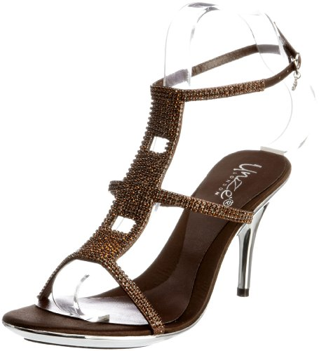 Unze Evening Sandals L18213W - Sandalias para mujer Marrón
