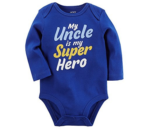 Carter's Baby Boys' My Uncle Is My Super Hero Collectible Bodysuit 18 Months -