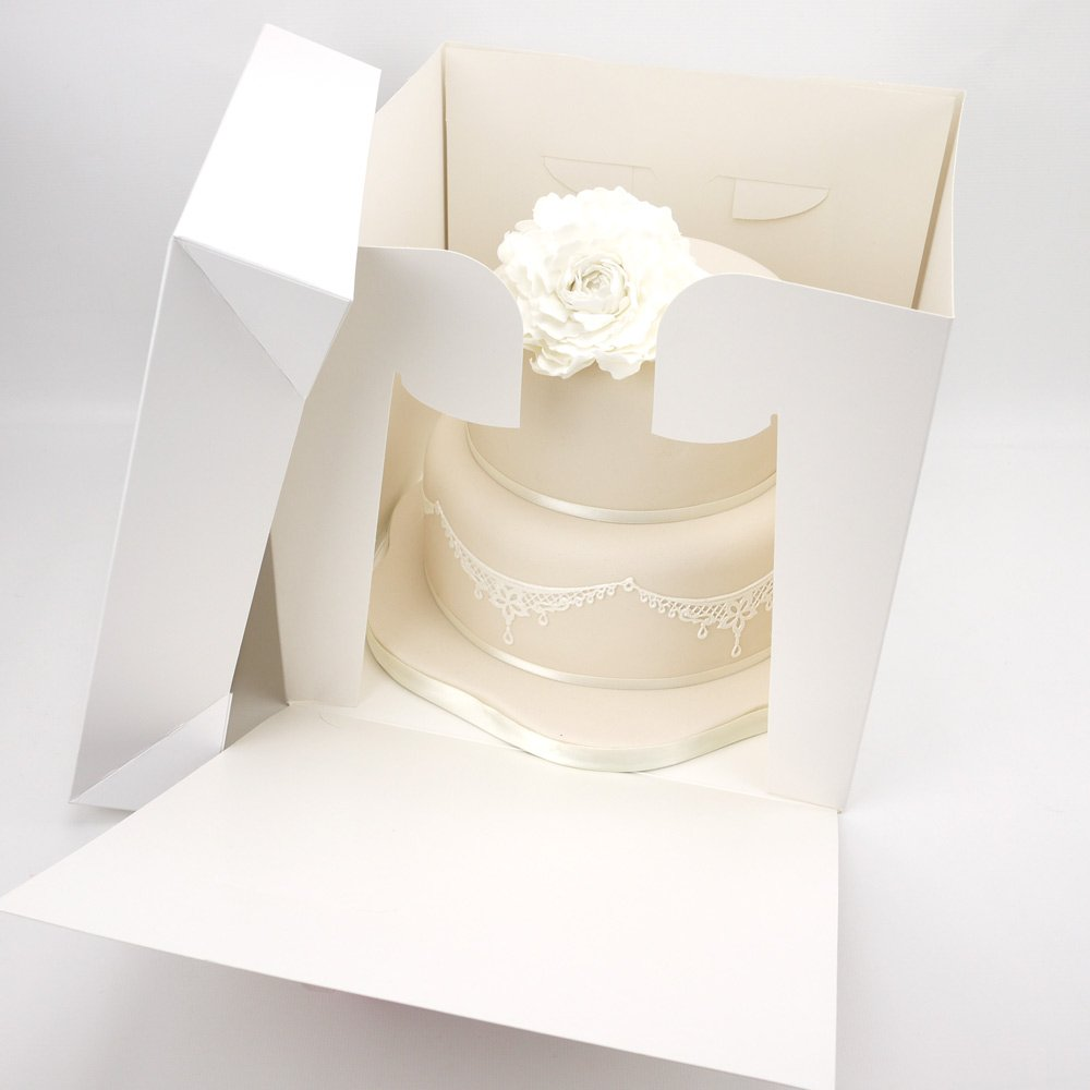 14 x 13 Inch Tall Cake Box For Stacked Cake (1): Amazon.co.uk ...