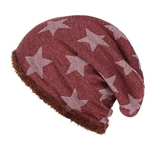 URIBAKE ❤ Fashion Women's Beanies Hat Pentagram Printed Velvet Keep Winter Warm Wool Knitted Cap ()