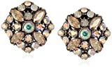 Ben-Amun Jewelry Swarovski Crystal Amore Roman Clip-On Earrings for Bridal Wedding Anniversary