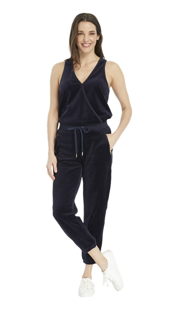 Juicy Couture BLACK LABEL Women's Crystal Dreams Knit Jumpsuit, Regal Blue, S by Juicy Couture
