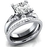 Women 925 Silver Jewelry Round Cut White Sapphire Fashion Wedding Ring Size 6-10#by pimchanok shop (10)